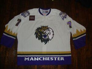 Vtg Manchester Monarchs Authentic Game Worn Joe Rullier AHL Hockey Jersey 58