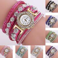 Fashion Women Stainless Steel Bling Rhinestone Bracelet Wrist Watch Lady Gift