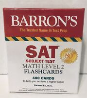 Barron's SAT Subject Test Math Lvl 2 Flashcards 400 Cards Test Prep Study Aid