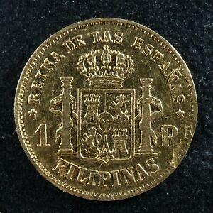 1 peso 1861 Philippines Spanish colonies KM#142 gold Pilipinas Filipinas