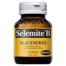 Blackmores Selemite B 100 Tablets Antioxidant Reduce Free Radical Damage