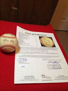 1998 New York Mets Rawlings ONL Autographed Baseball JSA 12 Signatures