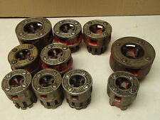 "Ridgid pipe threading die set thread cutter cutting 1"" to 3/8"""