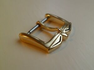 ROTARY EXCELLENT GENUINE  NOS 16MM GOLD PLATED WATCH BUCKLE MINT