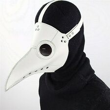 Plague Doctor Mask Bird Beak Halloween Cosplay Steampunk Punk Gothic Masks White