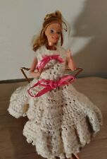 1966 Mattel Barbie Doll Blonde Hair Blue Eyes Great Dress