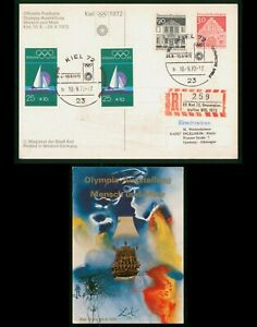 MayfairStamps Germany Olympic Sailing Kiel 1972 Post Card wwp60925