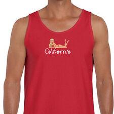 CALIFORNIA Girls Beach Party T-shirt Funny Sun Sand Fun Men's Tank Top