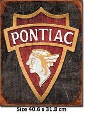 1930 Pontiac Logo Tin Sign 1940  Large Variety - Post Discounts
