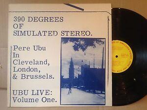PERE UBU LIVE 390 degrees ORIG UK ROUGH TRADE EXC+