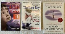 Lot of 3 A Child Called It The Lost Boy A Man Named Dave Pelzer Books