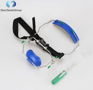 1 X Dental Orthodontic Reverse Pull Facemask Face Bow Headgear Blue