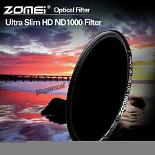 ZOMEI 67mm HD ND1000 10stop MC Glass Density Neutral Filter ND3.0 for SLR Camera