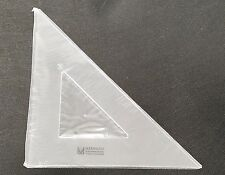 """MARBAUGH 8"""" GRAPHIC TRIANGLE 45/90 DEGREES ACRYLIC ARTS DRAFTING CLEAR"""