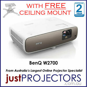 W2700 BenQ Projector, 4K with HDR.WITH FREE MOUNT from Just Projectors 2yr wrnty