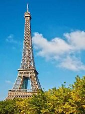 Eiffel Tower Blue Sky Paris France Photo Poster Print