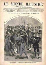 Paris Carnaval Fête Costumé tuna, estudiantina, rondalla Espagnola GRAVURE 1878