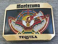 Montezuma Tequila Alcohol Barton Brand Vintage Belt Buckle