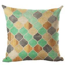 Colorful Cotton Linen Square Pillowcase Sofa Cushion Pillow Cover Home Decor #7 Flower Tree