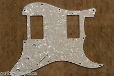 Golpeador Blanco Perlado Envejecido HH Stratocaster Pickguard Humbucker Strat