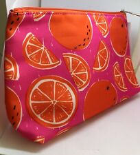 Clinique oranges pattern cosmetic bag New