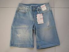 BNWT  Jeans West Ladies Bethany Distress Bermuda Stretch Denim Shorts   Size: 6