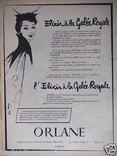 PUBLICITÉ 1956 CRÈME ORLANE ELIXIR À LA GELÉE ROYALE  - ADVERTISING