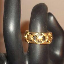 Vintage Avon Gold Tone Ring Lattice Basket Weave Band Size 7.5!