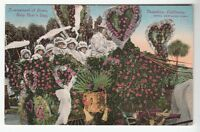 [49149] OLD POSTCARD TOURNAMENT OF ROSES HOTEL MARYLAND FLOAT PASADENA, CALIF.