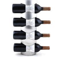 Excellent Houseware Metal Wall Mounted 3/4 Bottle Wine Holder Storage Rack FF
