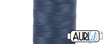 Aurifil Acolchado de Algodón Hilo - 50wt-200m-1310 - Gris Medio Azul