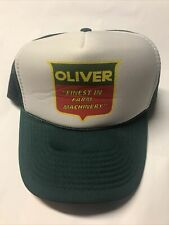 Vintage Oliver Tractors Finest in Farm Machinery SnapBack Foam Trucker Hat Cap