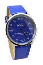 WoMaGe Mathematik Zifferblatt Damen Quarz Mode Armbanduhr Dunkelblau W8G2 MU