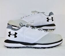 Under Armour Ua Fade Rst White & Black Silver Golf Shoes Sz 12.5 New 3000399 100