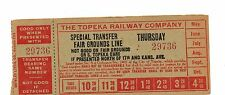 Transportation Transfer For The Topeka Railway Co Special Transfer