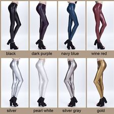 Fashion Womens Comfortable Soft Stretch Leggings Faux Leather Slim Pants