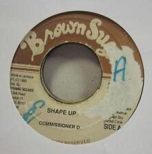 """Commisioner D(7"""" Vinyl)Shape UP-Brown Sugar-Jamaica-1990-Ex/G"""