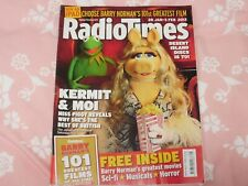 RADIO TIMES 28 JAN-3 FEB 2012 MUPPETS KERMIT & MOI EXCELLENT/NR MINT CONDITION