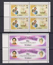 1981 Royal Wedding Charles & Diana MNH Stamp Set Tuvalu SG 175-176