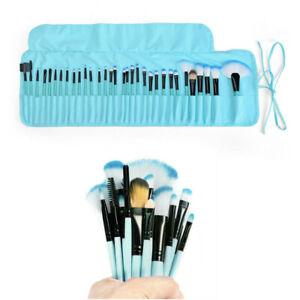 32Pcs Kabuki Makeup Brushes Powder Foundation Brushes & Luxury Bag Blue Brush UK