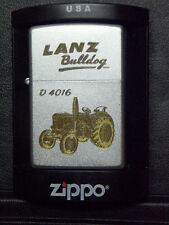 Zippo Sturmfeuerzeug Lanz Bulldog Trecker D 4016 Gravur