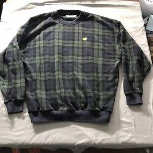 VTG Slazenger AUGUSTA NATIONAL Golf Shop Masters Plaid Pullover Sweatshirt XL
