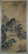 Qing Dynasty Antique Mountain Scenery Painting Scroll