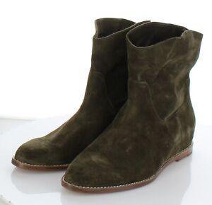 34-63 NEW $375 Women's Sz 9 M Vince Sinclair Suede Pull On Short Wedge Boot