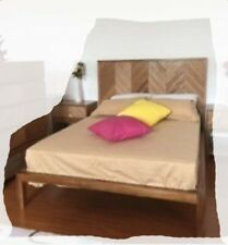 Coby KING SIZE African Hardwoods Timber Bed - BRAND NEW
