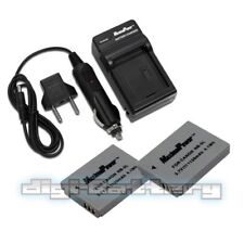 TWO BATTERIES + CHARGER Pack CANON NB-5L PowerShot ELPH SD700 Camera Battery X2