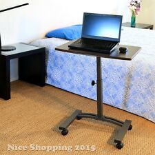 Laptop Desk Rolling Cart Table Stand Writing Work Station Home Dorm Room Office