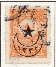 Turkey 1916 Star and Crescent Optd Issue Fine Used 1p. 064653