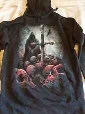 Spiral Direct Gothic HOODIE *SALE* The Walking Dead Skeleton Sword XL