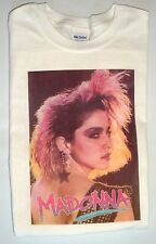 Vintage look T-shirt white 100% cotton size large young Madonna maybe 80's